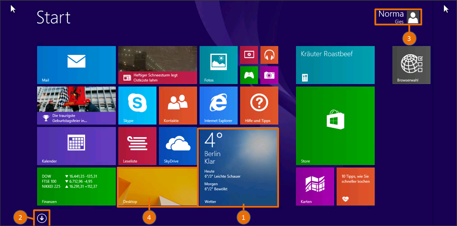 Erkunden sie die neue windows 8 startseite Innovation windows